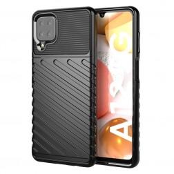 """""""Twill"""" kieto silikono (TPU) dėklas - juodas (Galaxy A12)"""