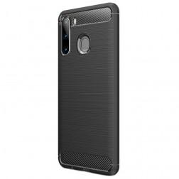 """""""Carbon"""" kieto silikono (TPU) dėklas - juodas (Galaxy A21)"""