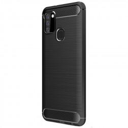 """""""Carbon"""" kieto silikono (TPU) dėklas - juodas (Galaxy A21s)"""