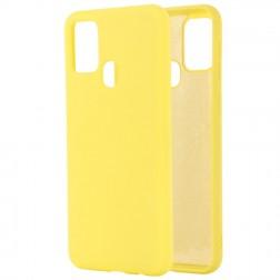 """""""Shell"""" kieto silikono (TPU) dėklas - geltonas (Galaxy A21s)"""
