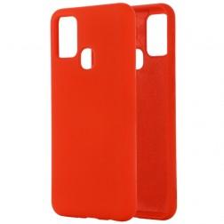 """""""Shell"""" kieto silikono (TPU) dėklas - raudonas (Galaxy A21s)"""