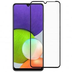 """""""Rurihai"""" Tempered Glass pilnai dengiantis apsauginis ekrano stiklas 2.5D - juodas (Galaxy A22 4G)"""