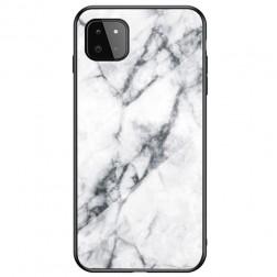 """""""Marble"""" kieto silikono (TPU) dėklas - baltas (Galaxy A22 5G)"""