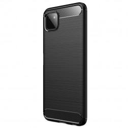"""""""Carbon"""" kieto silikono (TPU) dėklas - juodas (Galaxy A22 5G)"""
