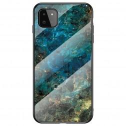 """Marble"" kieto silikono (TPU) dėklas - mėlynas (Galaxy A22 5G)"