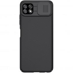 """Nillkin"" CamShield dėklas - juodas (Galaxy A22 5G)"