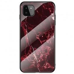 """""""Marble"""" kieto silikono (TPU) dėklas - raudonas (Galaxy A22 5G)"""