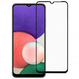 """""""Rurihai"""" Tempered Glass pilnai dengiantis apsauginis ekrano stiklas 2.5D - juodas (Galaxy A22 5G)"""