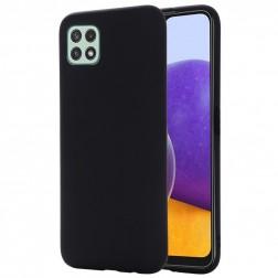 """""""Shell"""" kieto silikono (TPU) dėklas - juodas (Galaxy A22 5G)"""