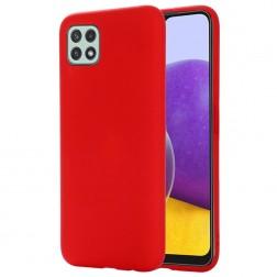 """""""Shell"""" kieto silikono (TPU) dėklas - raudonas (Galaxy A22 5G)"""