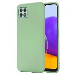 """Shell"" kieto silikono (TPU) dėklas - žalias (Galaxy A22 5G)"