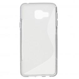 Kieto silikono (TPU) dėklas - skaidrus, pilkas (Galaxy A3 2016)