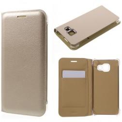 """""""Smart Wallet"""" atverčiamas dėklas - auksinis (Galaxy A3 2016)"""