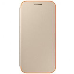 """""""Samsung"""" Neon Flip Cover atverčiamas dėklas - auksinis (Galaxy A3 2017)"""