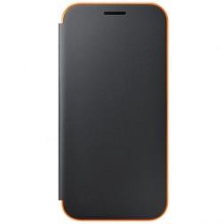 """""""Samsung"""" Neon Flip Cover atverčiamas dėklas - juodas (Galaxy A3 2017)"""