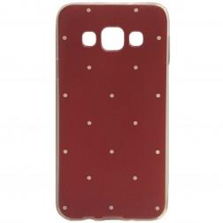"""""""Dots"""" kieto silikono (TPU) dėklas - raudonas (Galaxy A3 2015)"""