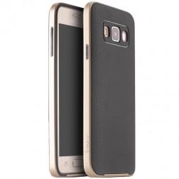 """""""IPAKY"""" kieto silikono (TPU) dėklas - juodas / auksinis (Galaxy A3)"""