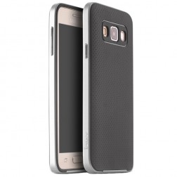 """""""IPAKY"""" kieto silikono (TPU) dėklas - juodas / sidabrinis (Galaxy A3 2015)"""