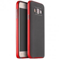 """""""IPAKY"""" kieto silikono (TPU) dėklas - juodas / raudonas (Galaxy A3 2015)"""