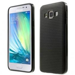 """""""Dots"""" kieto silikono (TPU) dėklas - juodas (Galaxy A3 2015)"""