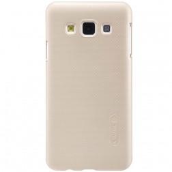 """""""Nillkin"""" Frosted Shield dėklas - auksinis + apsauginė ekrano plėvelė (Galaxy A3 2015)"""
