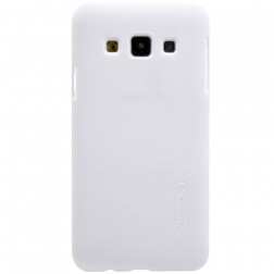 """""""Nillkin"""" Frosted Shield dėklas - baltas + apsauginė ekrano plėvelė (Galaxy A3 2015)"""