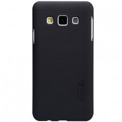 """""""Nillkin"""" Frosted Shield dėklas - juodas + apsauginė ekrano plėvelė (Galaxy A3)"""