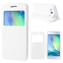 """Atverčiamas """"Smart Window"""" dėklas - baltas (Galaxy A3)"""