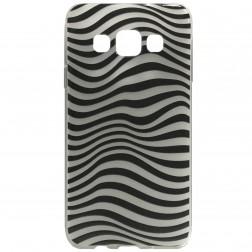"""Zebra"" kieto silikono (TPU) dėklas - juodas (Galaxy A3 2015)"