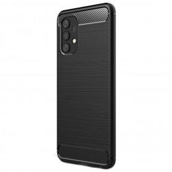 """""""Carbon"""" kieto silikono (TPU) dėklas - juodas (Galaxy A32 4G)"""
