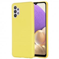 """""""Shell"""" kieto silikono (TPU) dėklas - geltonas (Galaxy A32 4G)"""