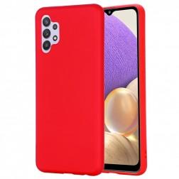 """""""Shell"""" kieto silikono (TPU) dėklas - raudonas (Galaxy A32 4G)"""