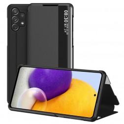 """""""View Line"""" atverčiamas dėklas - juodas (Galaxy A32 4G)"""