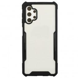 """""""FOCUS"""" dėklas - skaidrus / juodas (Galaxy A32 5G)"""