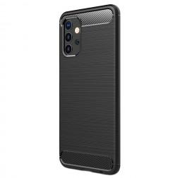 """""""Carbon"""" kieto silikono (TPU) dėklas - juodas (Galaxy A32 5G)"""