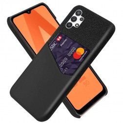 """""""KSQ"""" Shell dėklas su kišenėle - juodas (Galaxy A32 5G)"""