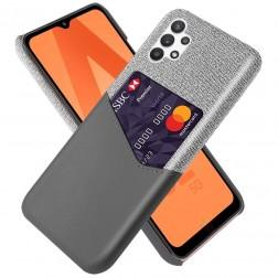 """""""KSQ"""" Shell dėklas su kišenėle - pilkas (Galaxy A32 5G)"""