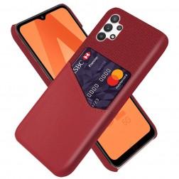"""""""KSQ"""" Shell dėklas su kišenėle - raudonas (Galaxy A32 5G)"""