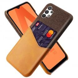 """KSQ"" Shell dėklas su kišenėle - rudas (Galaxy A32 5G)"
