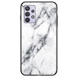 """""""Marble"""" kieto silikono (TPU) dėklas - baltas (Galaxy A32 5G)"""