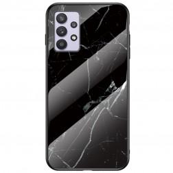 """""""Marble"""" kieto silikono (TPU) dėklas - juodas (Galaxy A32 5G)"""