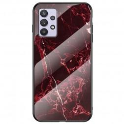 """""""Marble"""" kieto silikono (TPU) dėklas - raudonas (Galaxy A32 5G)"""