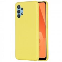 """""""Shell"""" kieto silikono (TPU) dėklas - geltonas (Galaxy A32 5G)"""