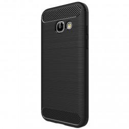 """""""Carbon"""" kieto silikono (TPU) dėklas - juodas (Galaxy A3 2017)"""