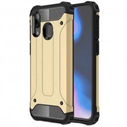 Sustiprintos apsaugos dėklas - auksinis (Galaxy A40)