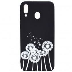 """""""Dandelion"""" kieto silikono (TPU) dėklas - juodas (Galaxy A40)"""