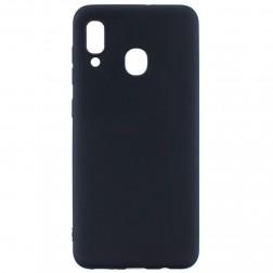 Kieto silikono (TPU) dėklas - juodas (Galaxy A40)