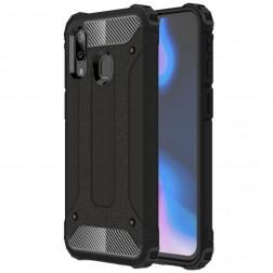 Sustiprintos apsaugos dėklas - juodas (Galaxy A40)
