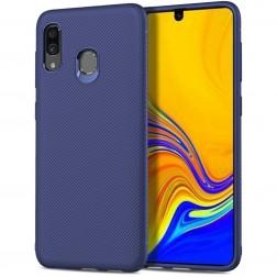 """Lenuo"" kieto silikono (TPU) dėklas - mėlynas (Galaxy A40)"