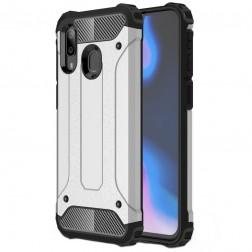 Sustiprintos apsaugos dėklas - sidabrinis (Galaxy A40)